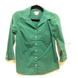 Jcrew green button down